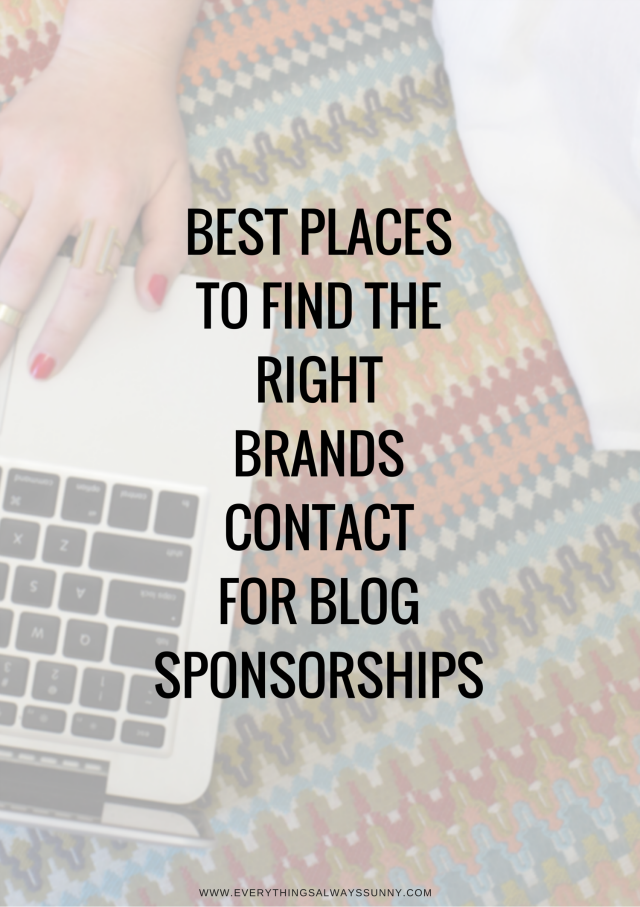 How To Get A Blog Sponsorship