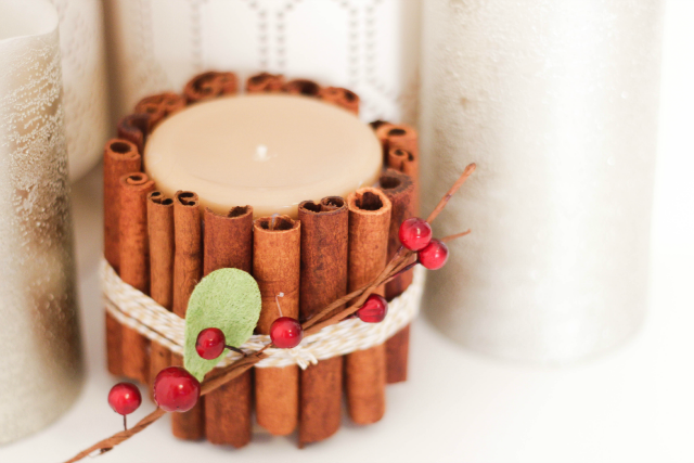 Holiday Cinnamon Candle DIY