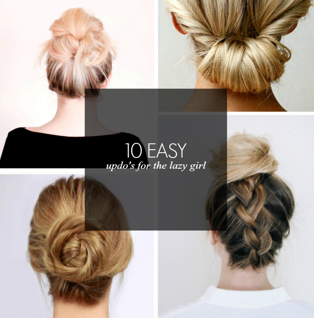 10 Lazy Girl's Hair Do Ideas
